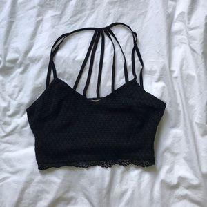 Lush black bra top Small